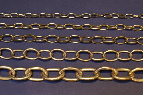 Brass Oval Chains