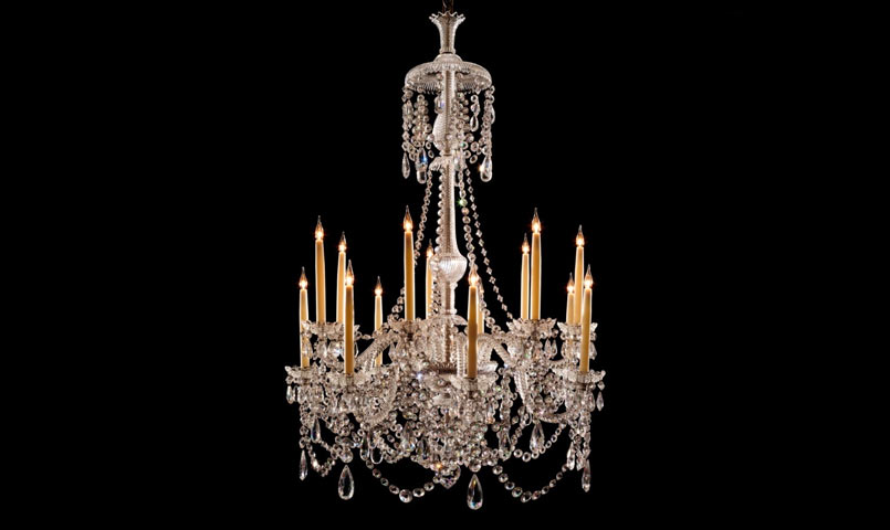 Restored Antique Perry Chandelier