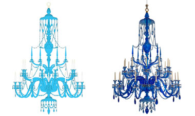 Blue Crystal Chandelier Suite