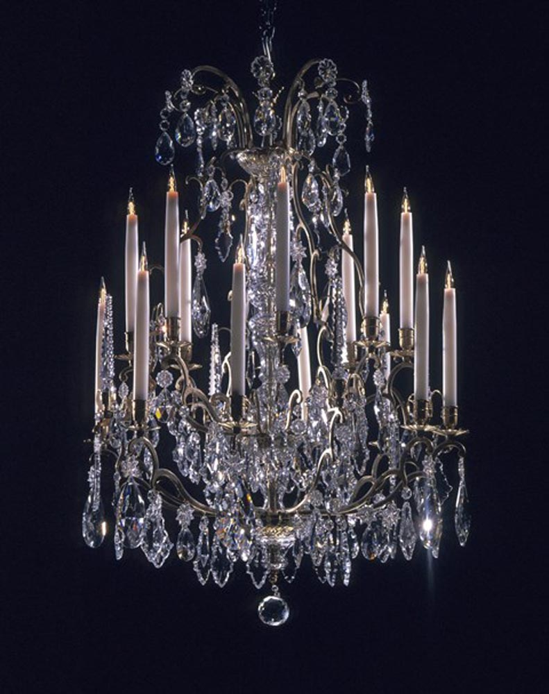 Venetian Style 5 Light Crystal Chandelier Traditional