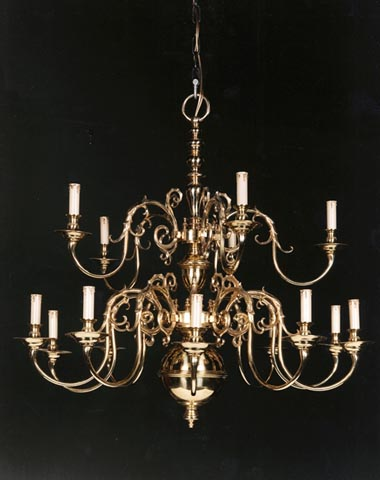 15 light Dutch chandelier