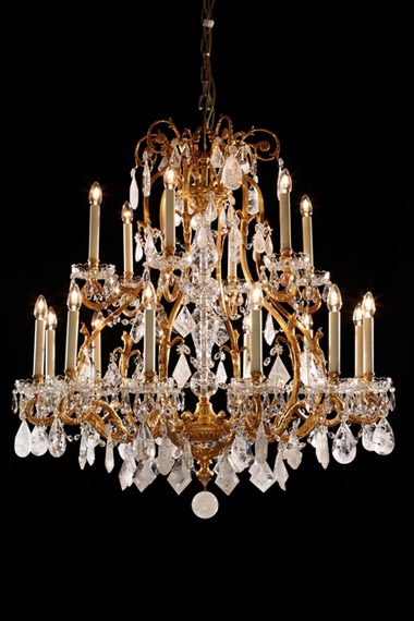 Rock crystal chandelier