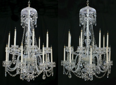 Pair of reproduction Perry chandeliers