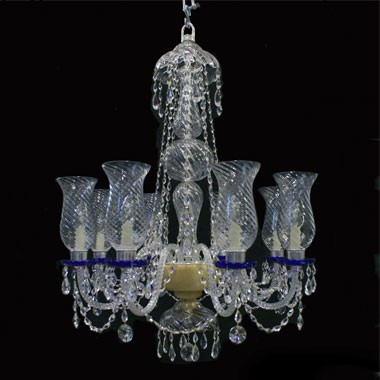 6 light 'blue highlights' chandelier