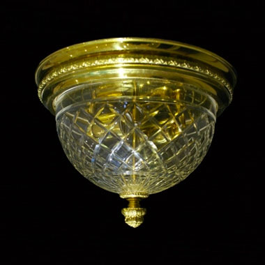 Diamond cut ceiling light