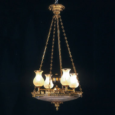 Gilt and bronze dishlight
