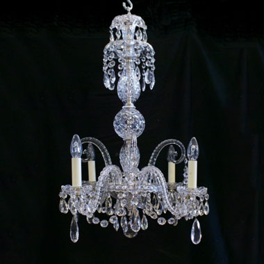 Small antique Victorian chandelier