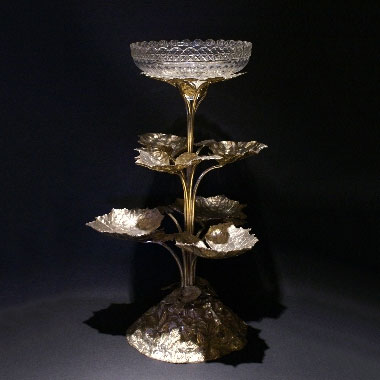 Victorian silver plated centrepiece